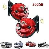 JIMENG 300DB Super Loud Train Horn for Truck Train Boat Car Air Electric Snail Single Horn, 12v Waterproof Double Horn…