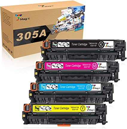 NO-OEM HP 305X  Set Toner CE410X CE411A CE412A CE413A to HP Pro400 M451 M475