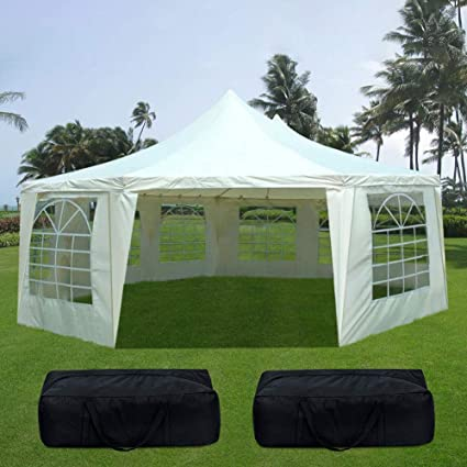 Image Unavailable & Amazon.com: Quictent 22u0027 x 16u0027 Heavy Duty Outdoor Octangle Wedding ...