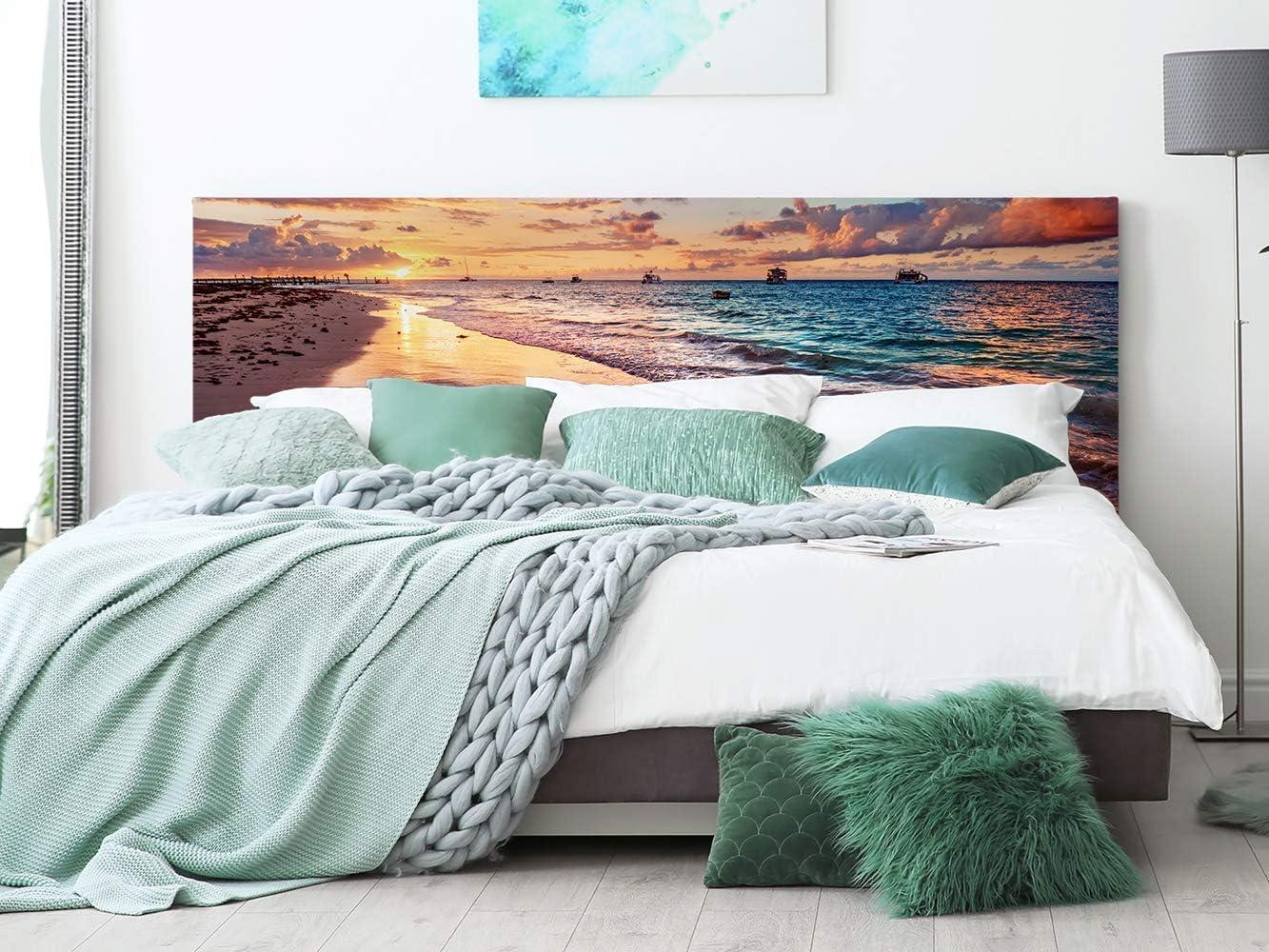 Cabecero Cama PVC Playa 135x60cm | Disponible en Varias Medidas | Cabecero Ligero, Elegante, Resistente y Económico