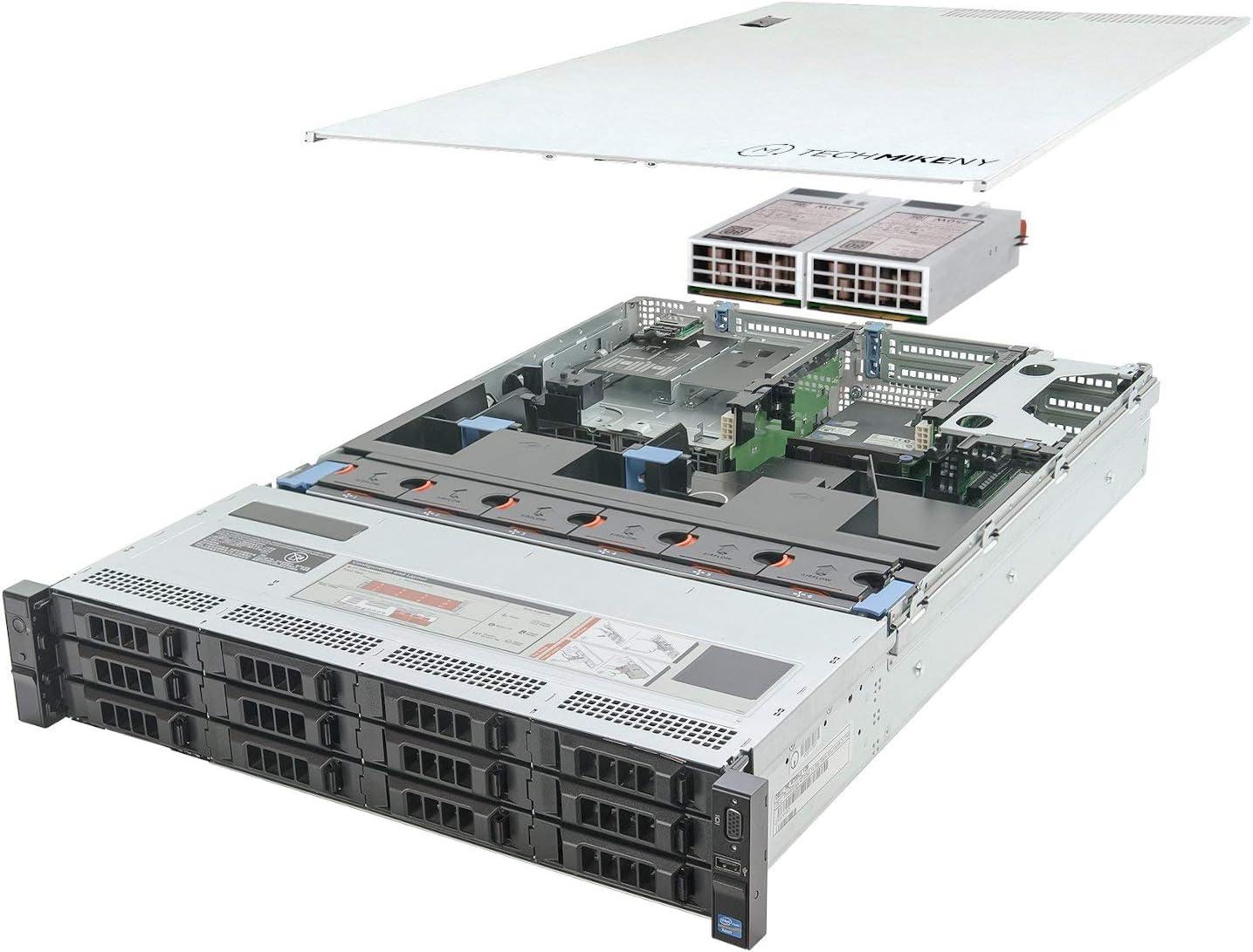 TechMikeNY Server 2X E5-2660 2.20Ghz 16-Core 128GB H710P PowerEdge R720xd (Renewed)