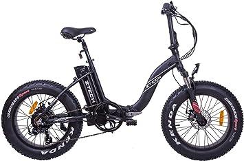 Z-TECH Fat-Bike Bicicleta eléctrica Plegable con pedalada asistida ...