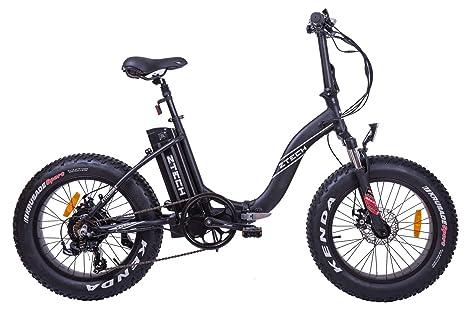 Fat Bike Bicicletta Elettrica Pieghevole A Pedalata Assistita 20 500w Z Tech Nera