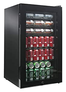 NewAir AB-1200B 126-Can Freestanding Beverage Cooler, Black, 126 Can
