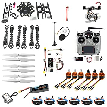 QWinOut DIY FPV Drone 6-axle Hexacopter Kit : HMF S550 Frame + PXI ...