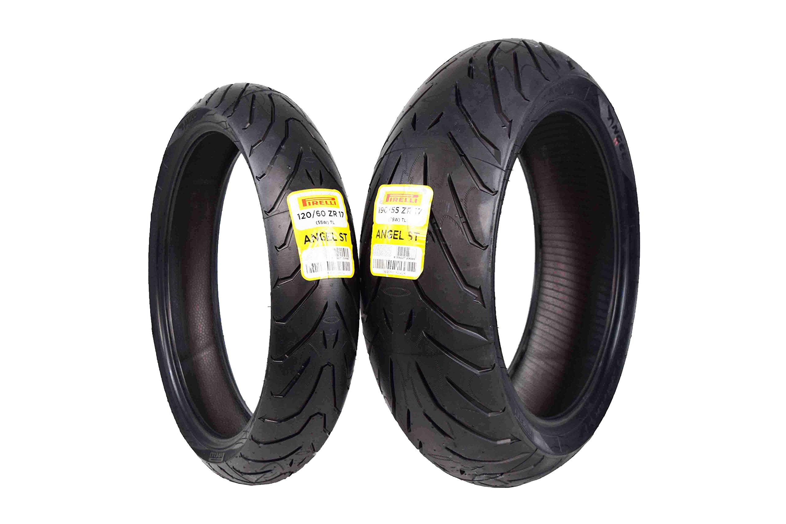 Pirelli Angel ST Front & Rear Street Sport Touring Motorcycle Tires (1x Front 120/60ZR17 1x Rear 190/55ZR17)