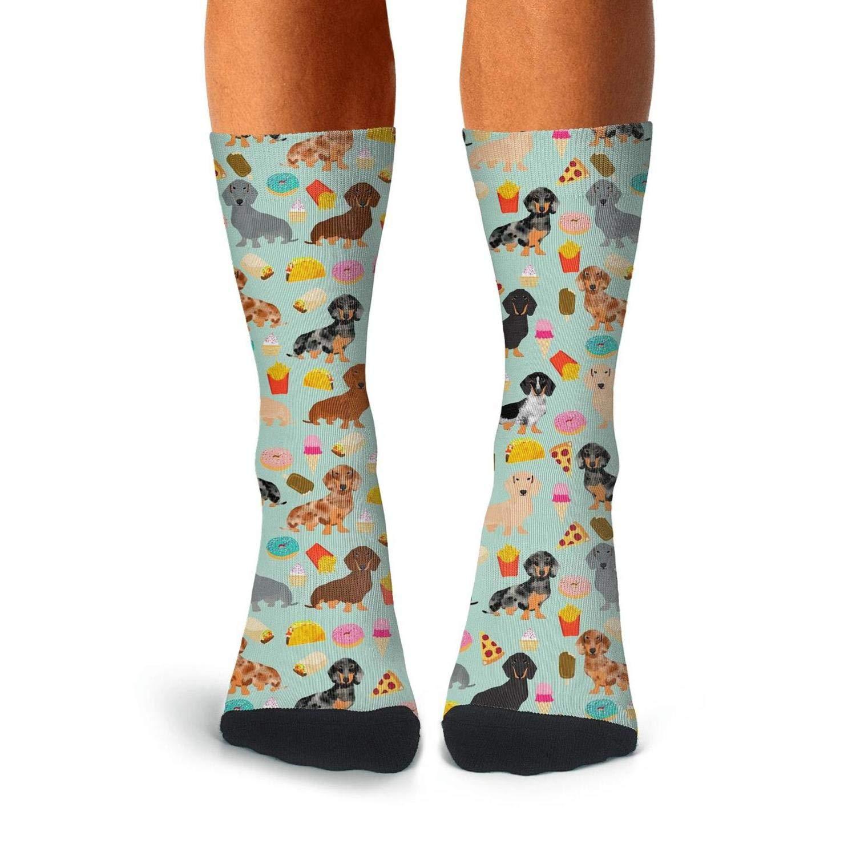 Mens Dress Funky Print Socks Athletic Cotton Stockings Fits Shoe Size 7.5-11.5