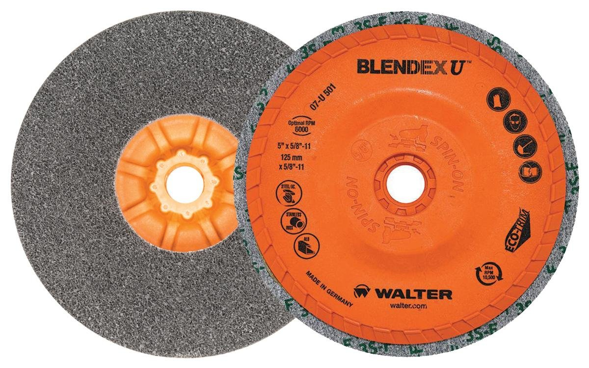 Walter Blendex U Cup Disc, 10500 Maximum RPM, 5 Diameter, 5/8-11 Arbor, Grit 3SF (Pack of 5) by Walter Surface Technologies B007NJ0Z4W