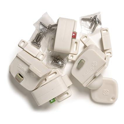 Cabinet Locks & Straps Loyal 5 Pcs Safety Cabinet Door Desk Drawer Cupboard Plastic Lock Child Kids Safe Lock