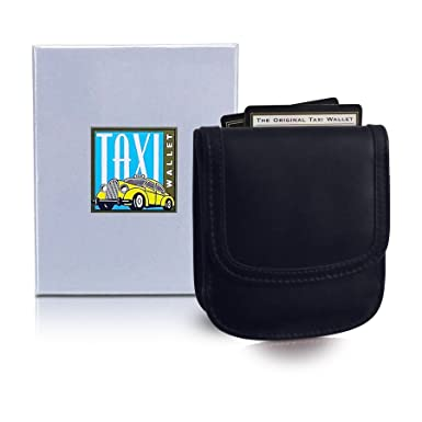 35b5aa9eac66 TAXI WALLET Black 01 Small Folding LEATHER Minimalist Card Coin Front  Pocket Wallet for Men & Women
