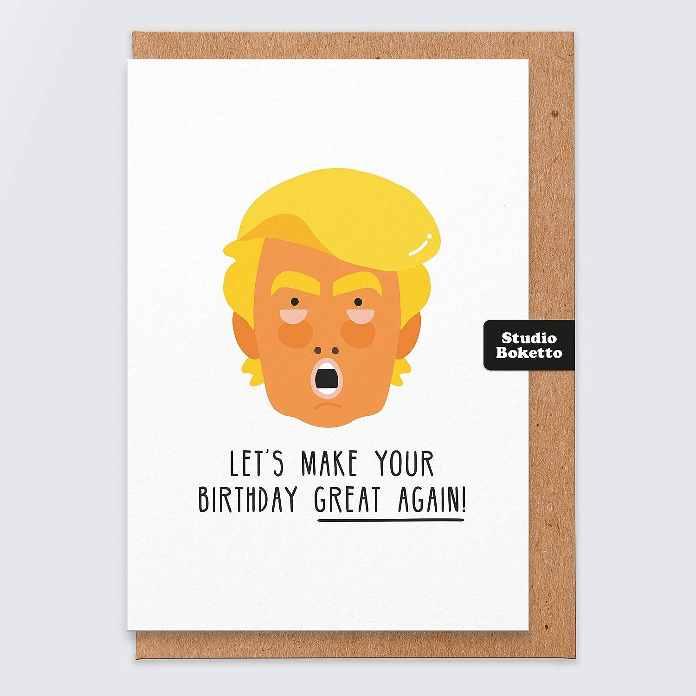 Fr Bruder Comedy-Geburtstagskarte Maske f/ür Vater Geburtstagskarte Trump Geburtstagskarte Donald Trump Lustige Geburtstagskarte Humor Witz Geburtstagskarte f/ür Herren