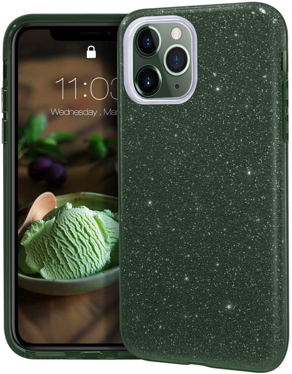 Amazon Com Mateprox Iphone 11 Pro Max Case Bling Sparkle Cute Girls Women Protective Case For Iphone 11pro Max 6 5inch Midnight Green Electronics