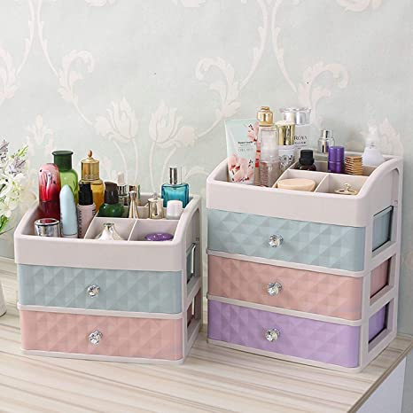 60d63279427f Amazon.com: Durable Jewelry Box Handmade Makeup Storage Case Large ...