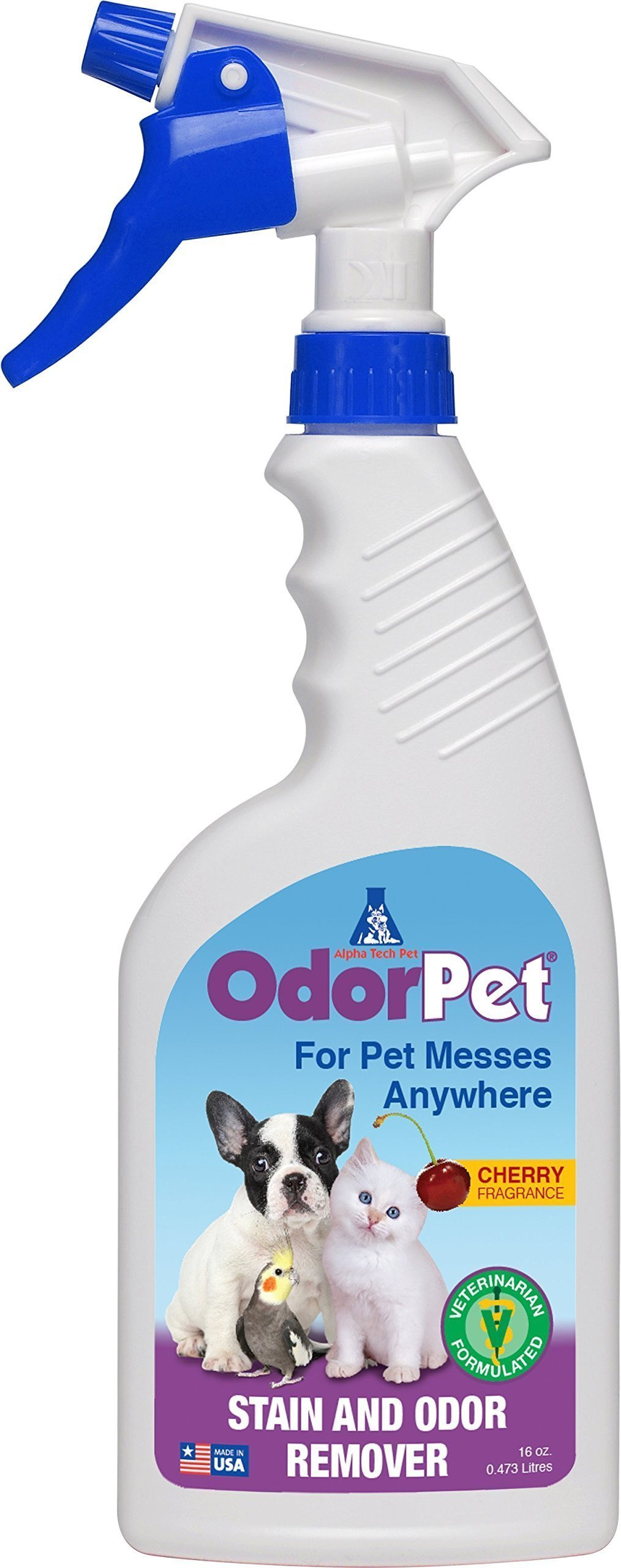 Alpha Tech Pet OdorPet Pet stain and Odor Remover, 16oz RTU Spray Bottle