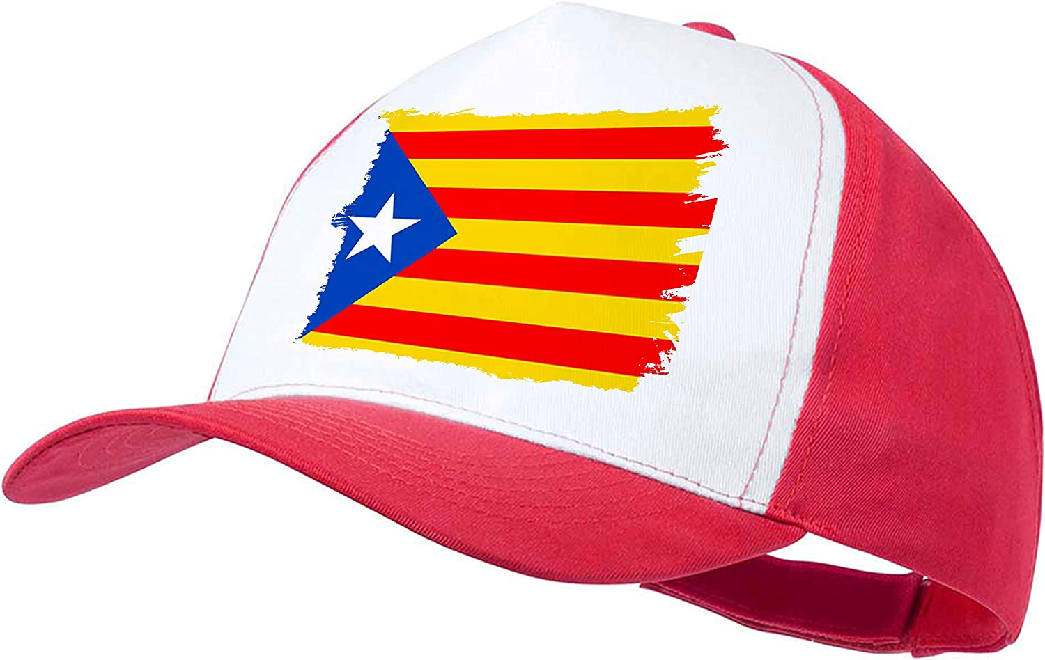 MERCHANDMANIA Gorra ROJA Bandera CATALUÑA Independencia Color Cap: Amazon.es: Deportes y aire libre