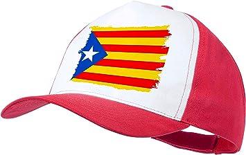 MERCHANDMANIA Gorra ROJA Bandera CATALUÑA Independencia Color Cap ...
