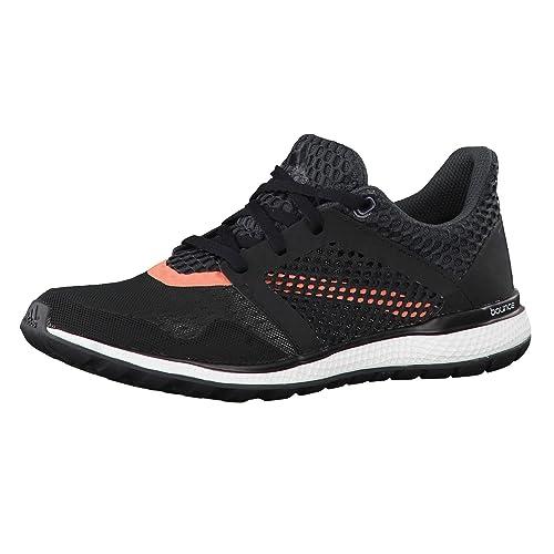 Adidas Energy Bounce 2 W, Zapatillas de Running para Mujer, Negro (Negbas/Griosc/Rojimp), 41 1/3 EU adidas