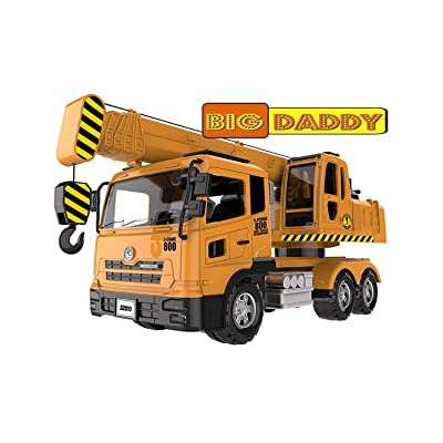 Big Daddy Extra Large Crane Truck Extendable Arms & Lever to Lift Crane Arm Crane Truck: Toys & Games