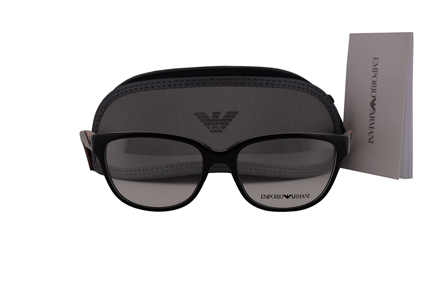 8dc4ca71920 Amazon.com  Emporio Armani EA3081 Eyeglasses 52-16-140 Shiny Black 5017 EA  3081  Clothing