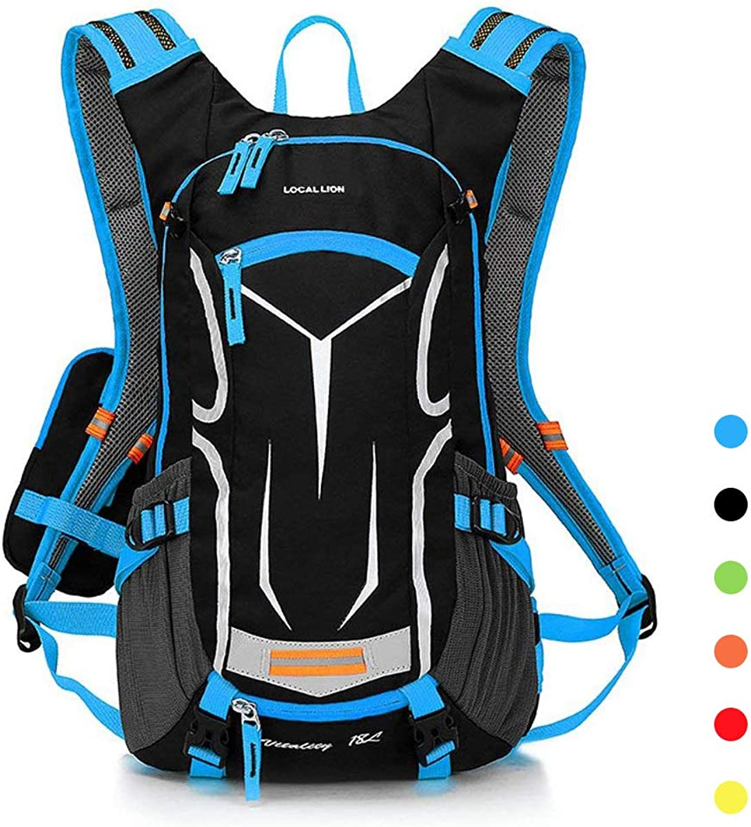 LOCALLION Cycling Backpack Biking Daypack For Outdoor Sports Running Breathable Hydration Pack Men Women 18L