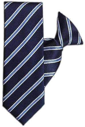 John Henry JH-1089 - Corbata de clip, diseño de rayas, color azul ...
