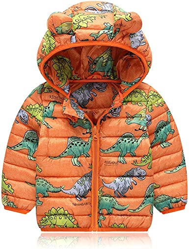 Mumustar Toddlers Baby Boys Clothes Dinosaur Hoodie Zipper Pockets Spring Autumn Outwear Outfits for Kids 1-6 Years