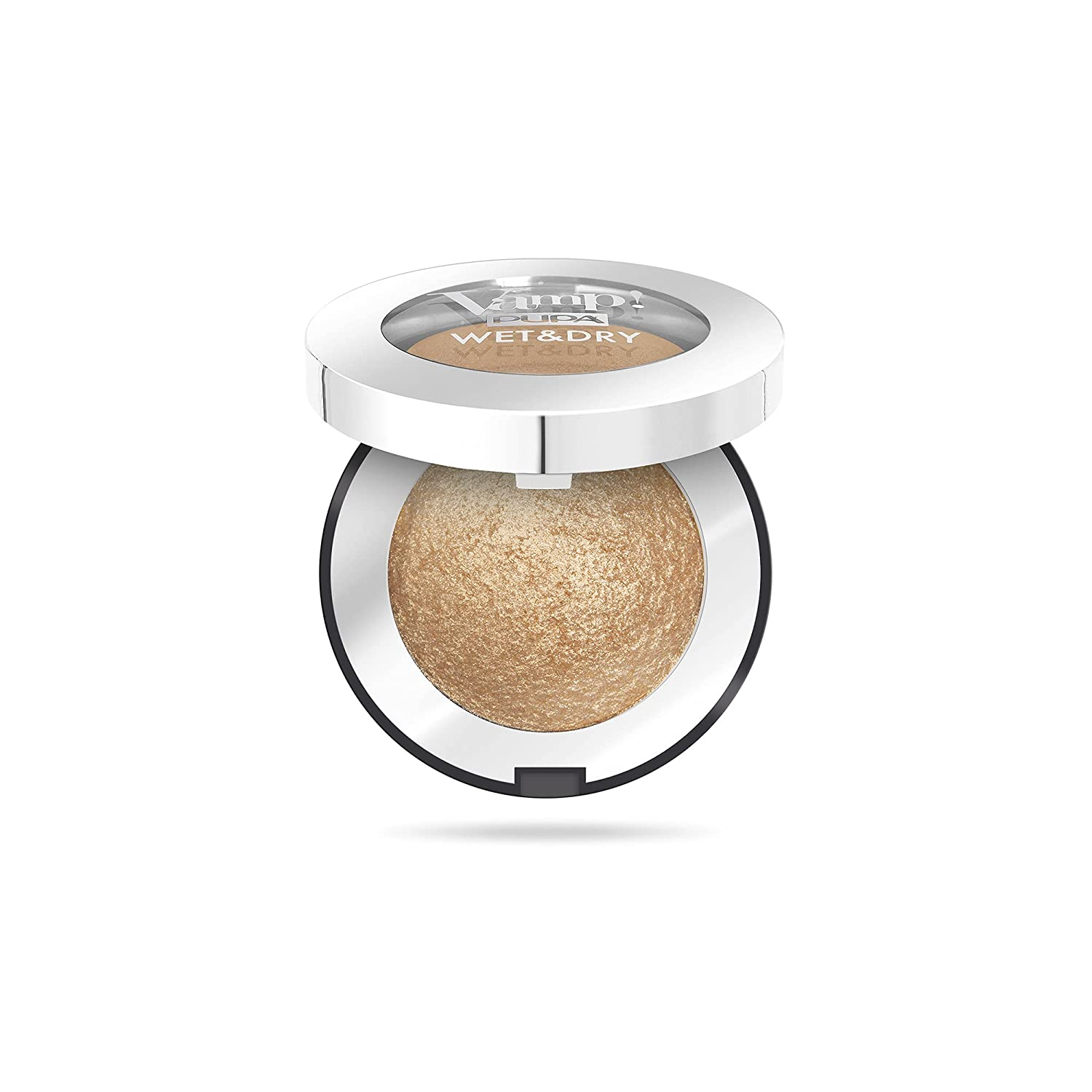 Vamp! Wet and Dry Baked Eyeshadow – 101 Precious Gold by Pupa Milano for Women – 0.035 oz Eye Shadow
