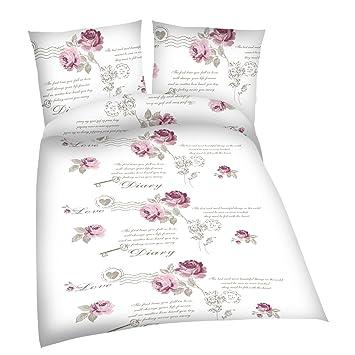 Jemidi Bettwäsche Rosen Bettbezug Bettbezüge Bettgarnitur 135cm X