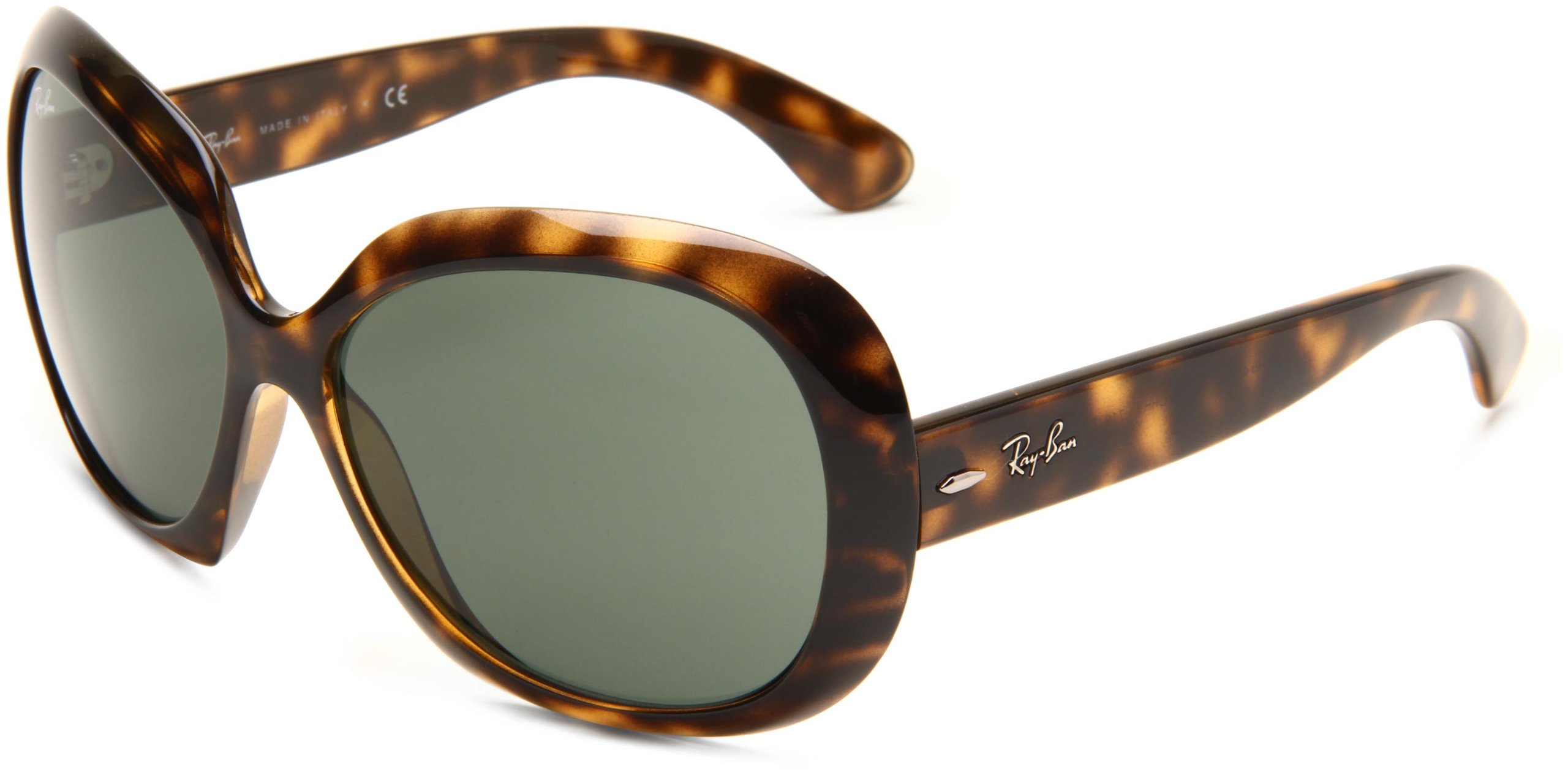 RAY-BAN RB4098 Jackie Ohh II Oversized Sunglasses, Light Havana/Dark Green, 60 mm by RAY-BAN