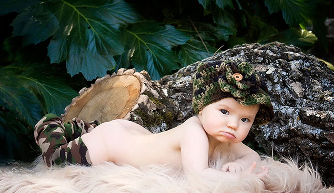 Camouflage Leg Warmers for Baby and Toddler By Posh Pipsqueak