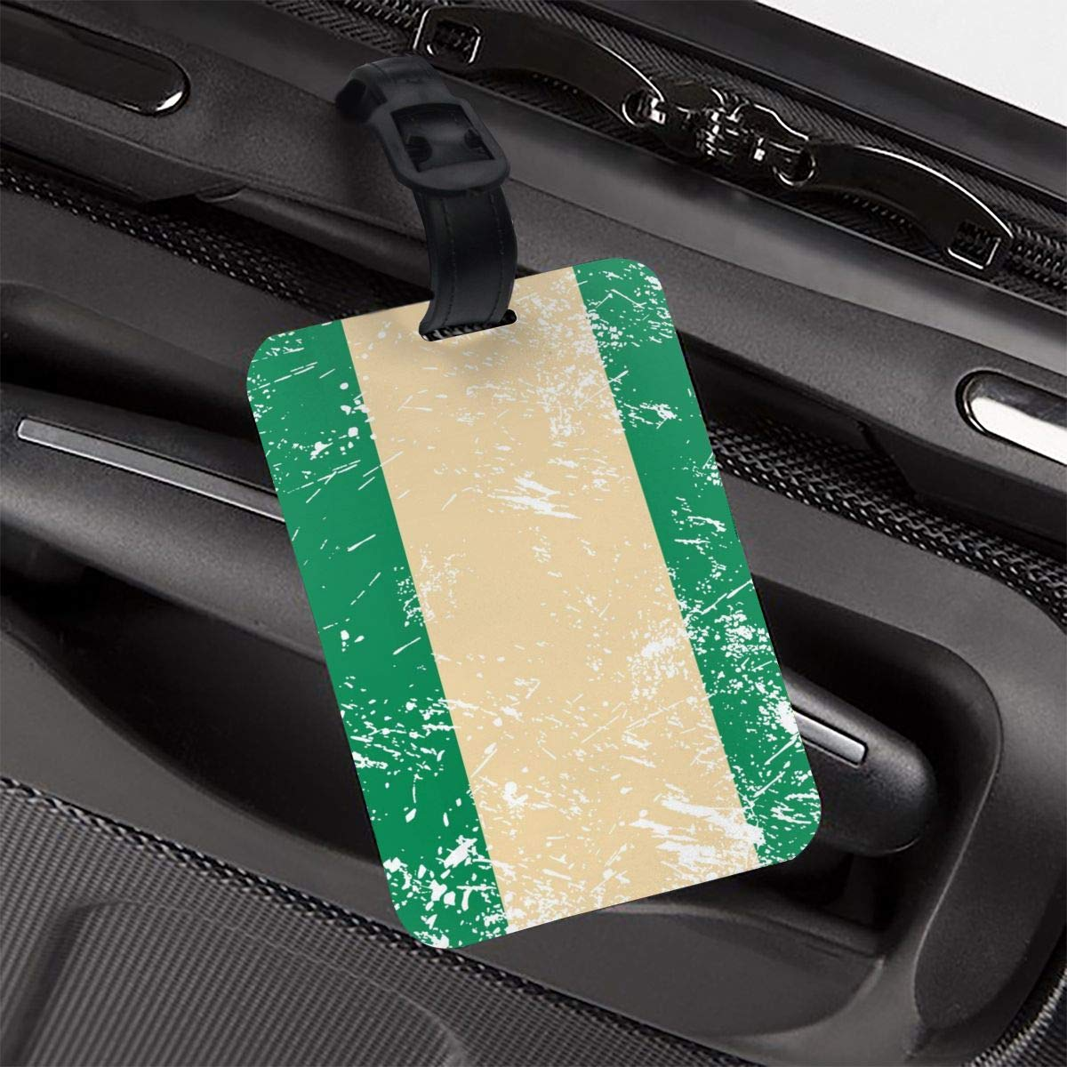 Nigeria Retro Flag Travel Luggage Tag Novel Employees Card Luggage Tag Holders Travel ID Identification Labels for Baggage Suitcases Bags