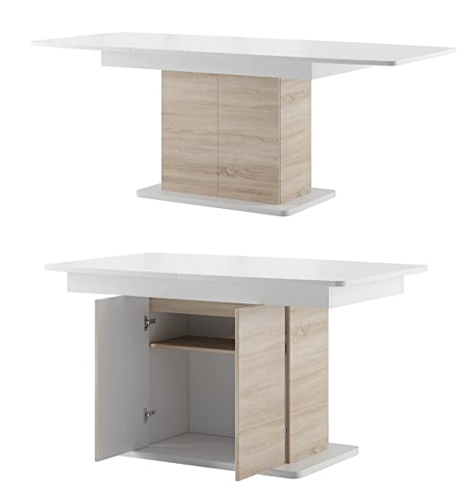 furniture24-eu Mesa Star Comedor Columna Mesa Extensible hochganz ...