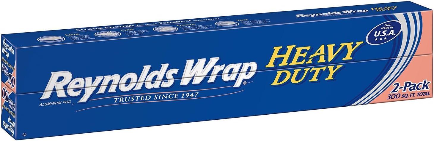 Reynolds Wrap Heavy Duty Aluminum Foil, 150 sq. ft (2 ct.)
