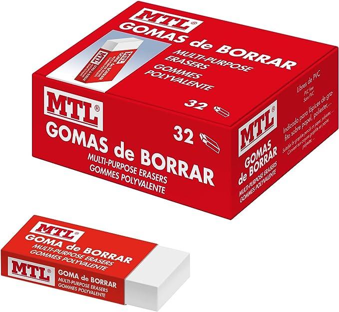 Dohe - Caja de Gomas de borrar - 32 uds: Amazon.es: Oficina y ...