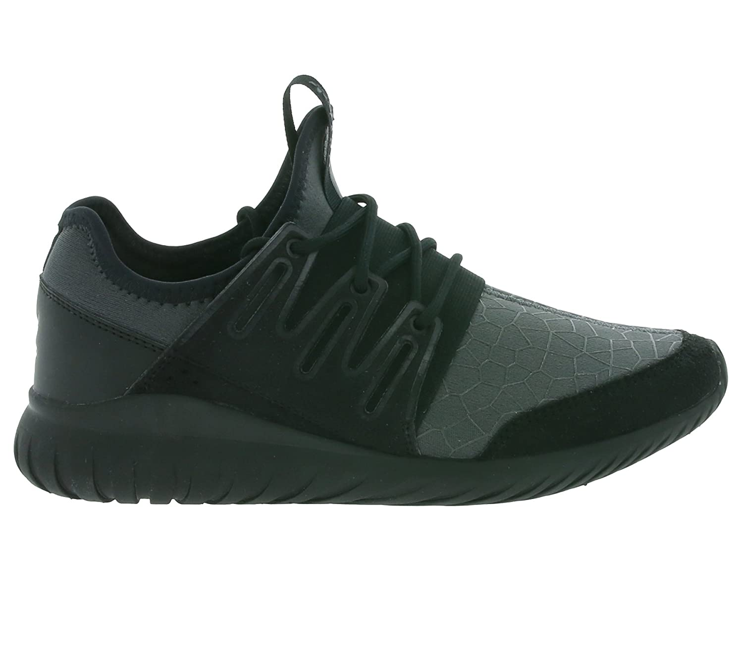 03b241c47e62e9 adidas Boys Originals Junior Boys Tubular Radial Trainers in Black - UK 4   Amazon.co.uk  Shoes   Bags