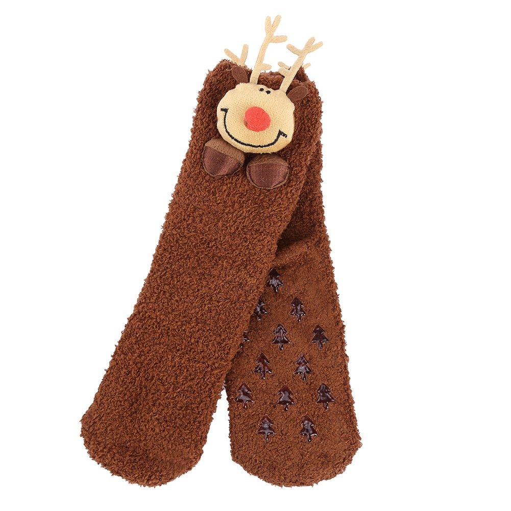 Vbiger Damen & Herren Weihnachten Socken Winter Socken Rutschfeste Griff Boden Socken