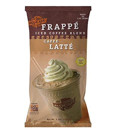 Mocafe Frappe Caffe Latte Ice Blended Coffee 3 Pound Bag Instant Frappe Mix Coffee House Style