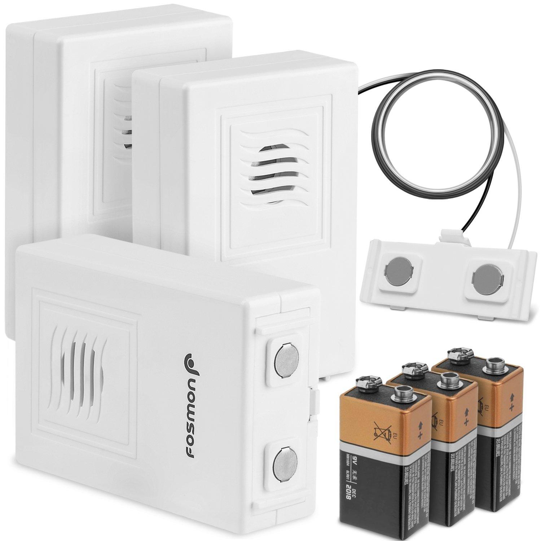 Dé tecteur d' inondation 3-Pack, Alarme de dé tection de Fuite d'eau sans Fil Fosmon avec Alarme de Batterie Faible - Blanc Alarme de détection de Fuite d' eau sans Fil Fosmon avec Alarme de Batterie Faible - Blanc Fosmon Technology 51019