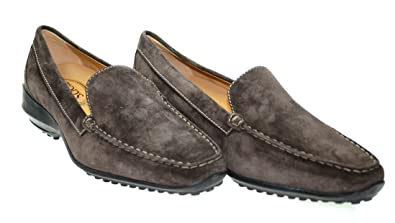 TODS Womens T-One Pantofola Brown Suede Loafers Sz 40 1/2 700P0S807