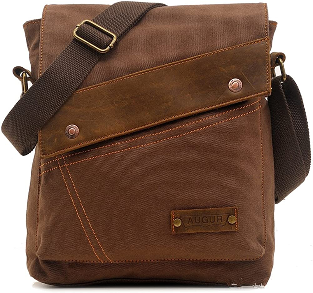Sechunk Canvas Messenger Bags Shoulder Bags Crossbody Bags Purse Daypack for Men Women