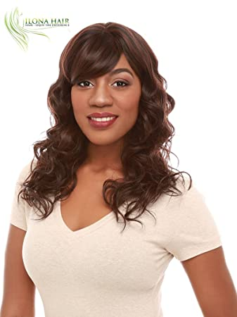 Amazon Com Long Hair Wig With Bang For Black Woman Heat Friendly