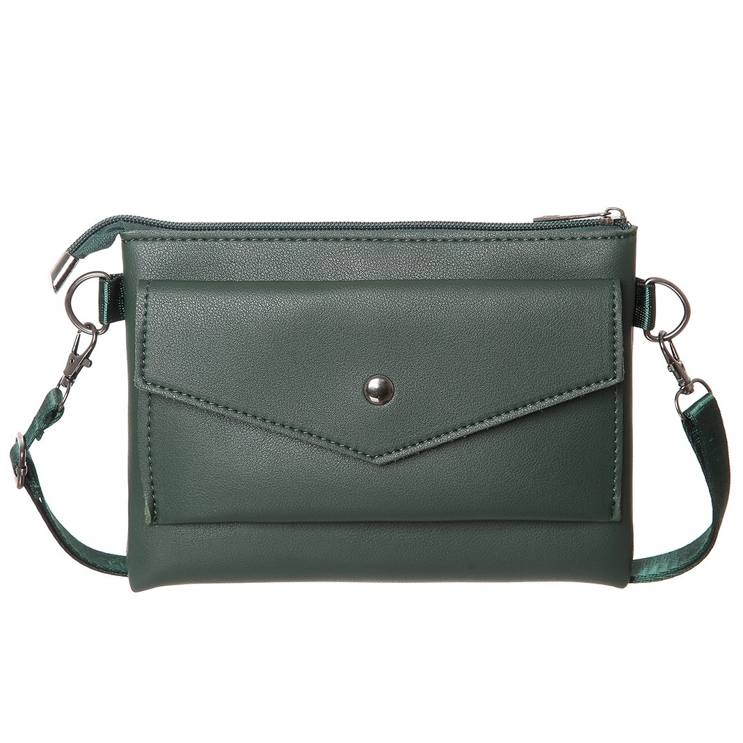 Small Crossbody Purse For Women Synthetic Leather Cell Phone Purse Crossbody Wallet Bag (Green)