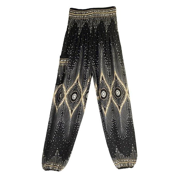 Amazon.com: GoodLock Men Women Boho Hippy Harem Pants Thai ...