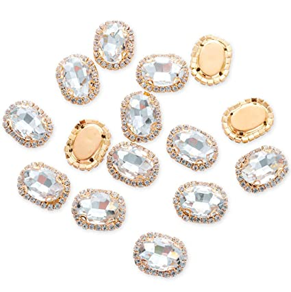 Amazon.com  25Pcs Crystal Rhinestones Sewing on 5e94e3127477