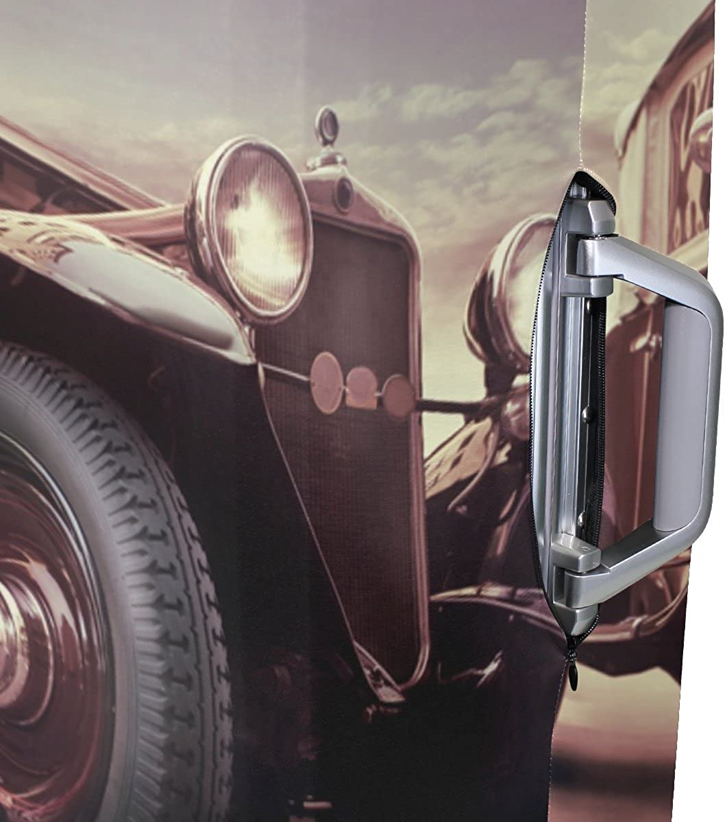 GIOVANIOR Vintage Car Luggage Cover Suitcase Protector Carry On Covers