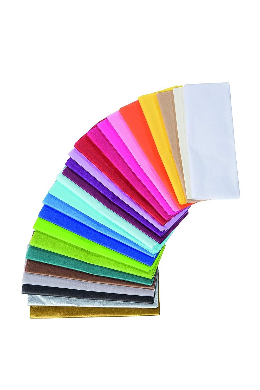 mit 8 Bl/ätter Seidenpapier, 50 x 75 cm, 18 g//qm, ideal f/ür Deko und Bastelprojekte 8er Pack schwarz Clairefontaine 393729C Packung