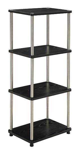 amazoncom convenience concepts designs2go 4tier tower black kitchen u0026 dining