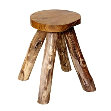 Stool Made From Teak Wood Stool Footstool Side Table Wooden Stool Child  Childrenu0027s Room Nature New