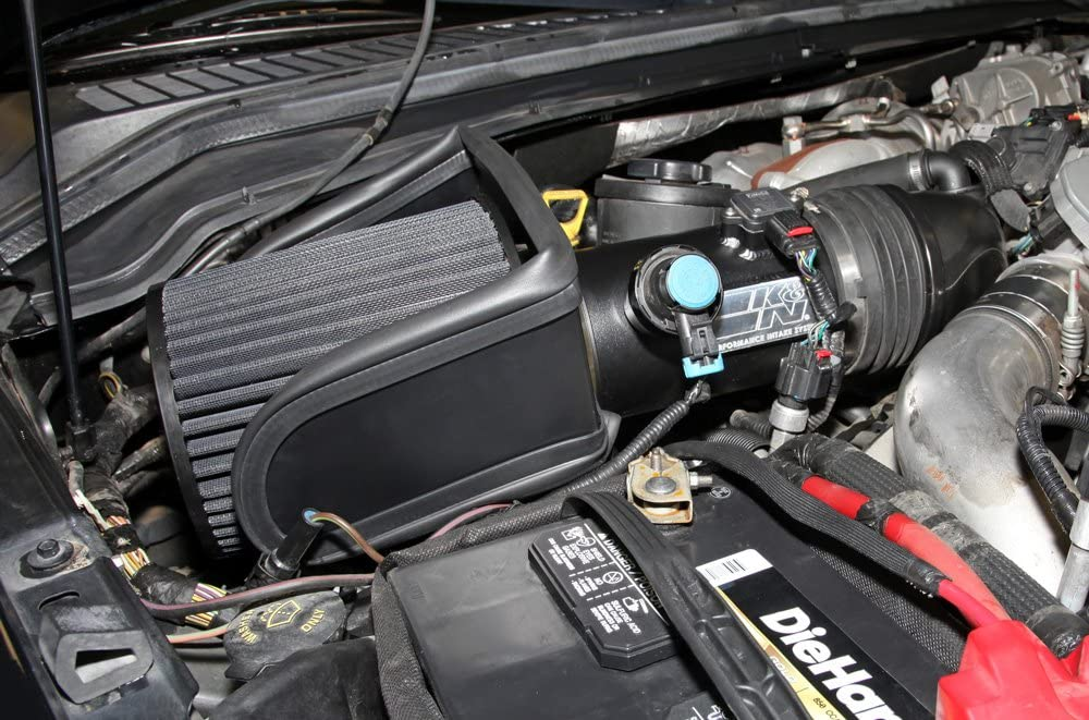 K/&N Cold Air Intake Kit: High Performance F250 Super Duty, F350 Super Duty, F450 Super Duty, F550 Super Duty 71-2576 Guaranteed to Increase Horsepower: 2008-2010 FORD