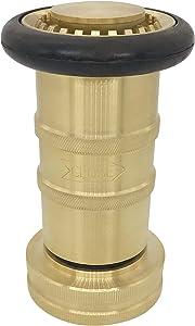 "SpringSpray 1-1/2"" NPSH Fire Hose Nozzle Brass Fire Equipment Heavy Duty Industrial Fog Nozzle"